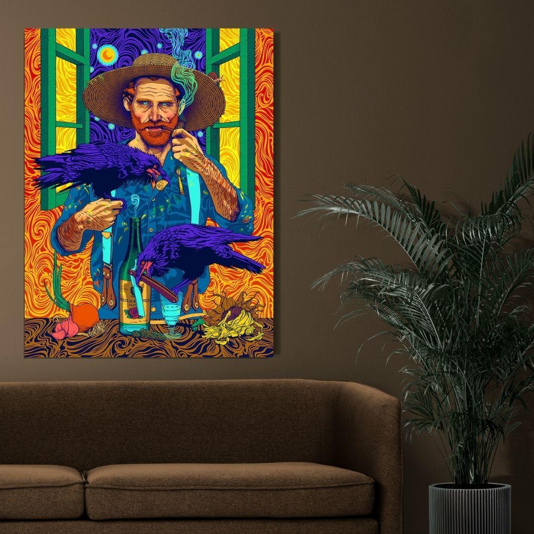 Quadro Decorativo - Van Gogh - Arte Moderna - 80x60cm