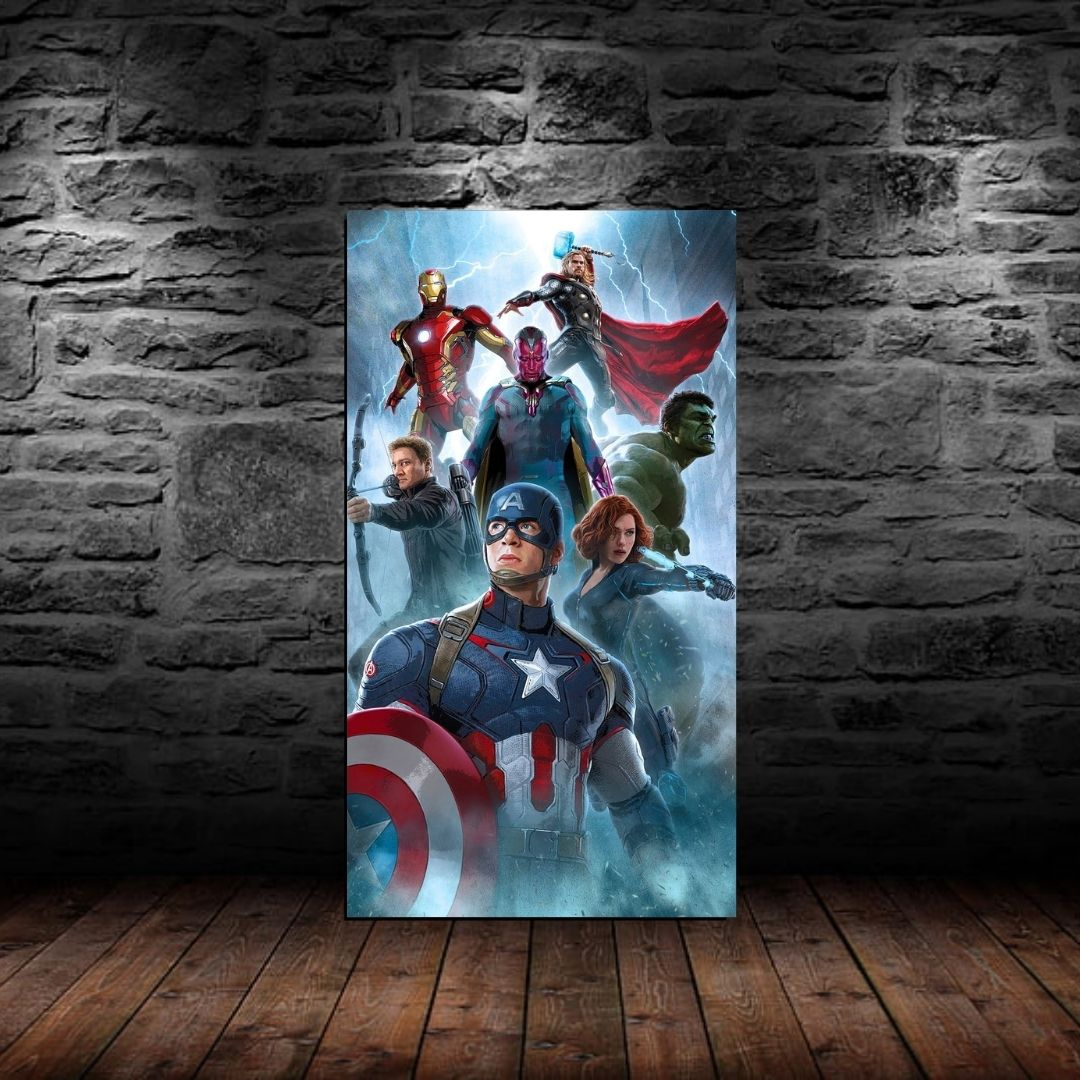 Quadro Decorativo Os Vingadores 100x55cm