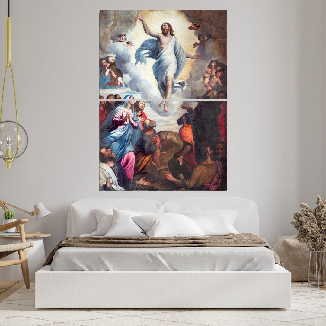 Quadro Para Sala - A Ascenção de Jesus Cristo - 140x100