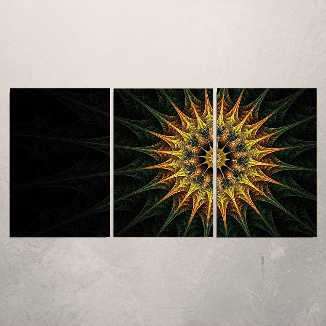 Quadro Para Sala - Abstrato Fractal - 120x60cm