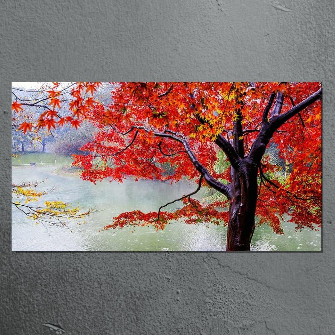 Quadro Para Sala - Arvore Vermelha - 110x60cm