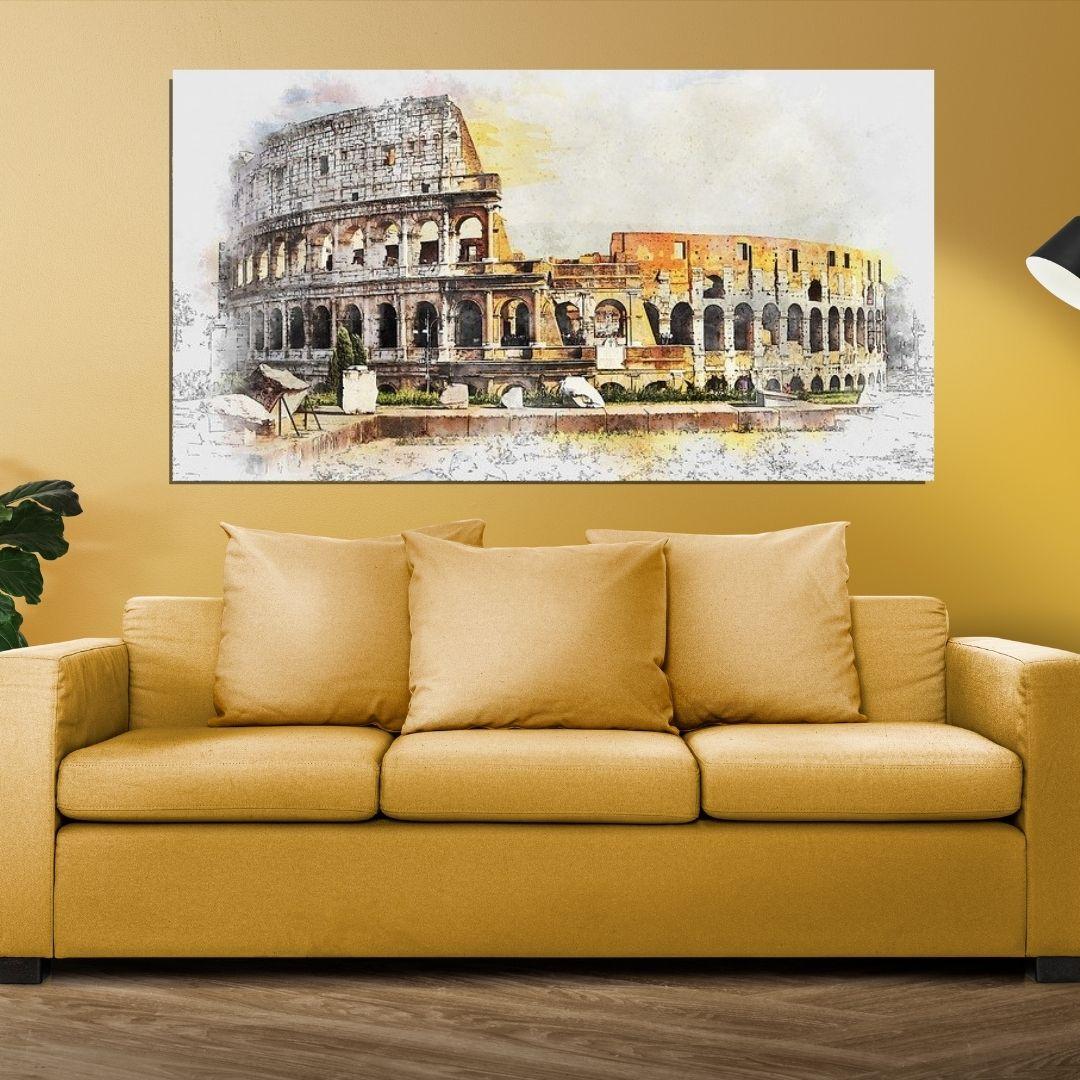 Quadro Para Sala - Coliseu de Roma - 110x60cm.