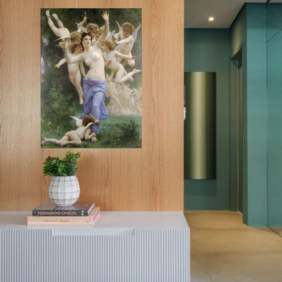 Quadro Decorativo William Adolphe Bouguereau 90X65cm