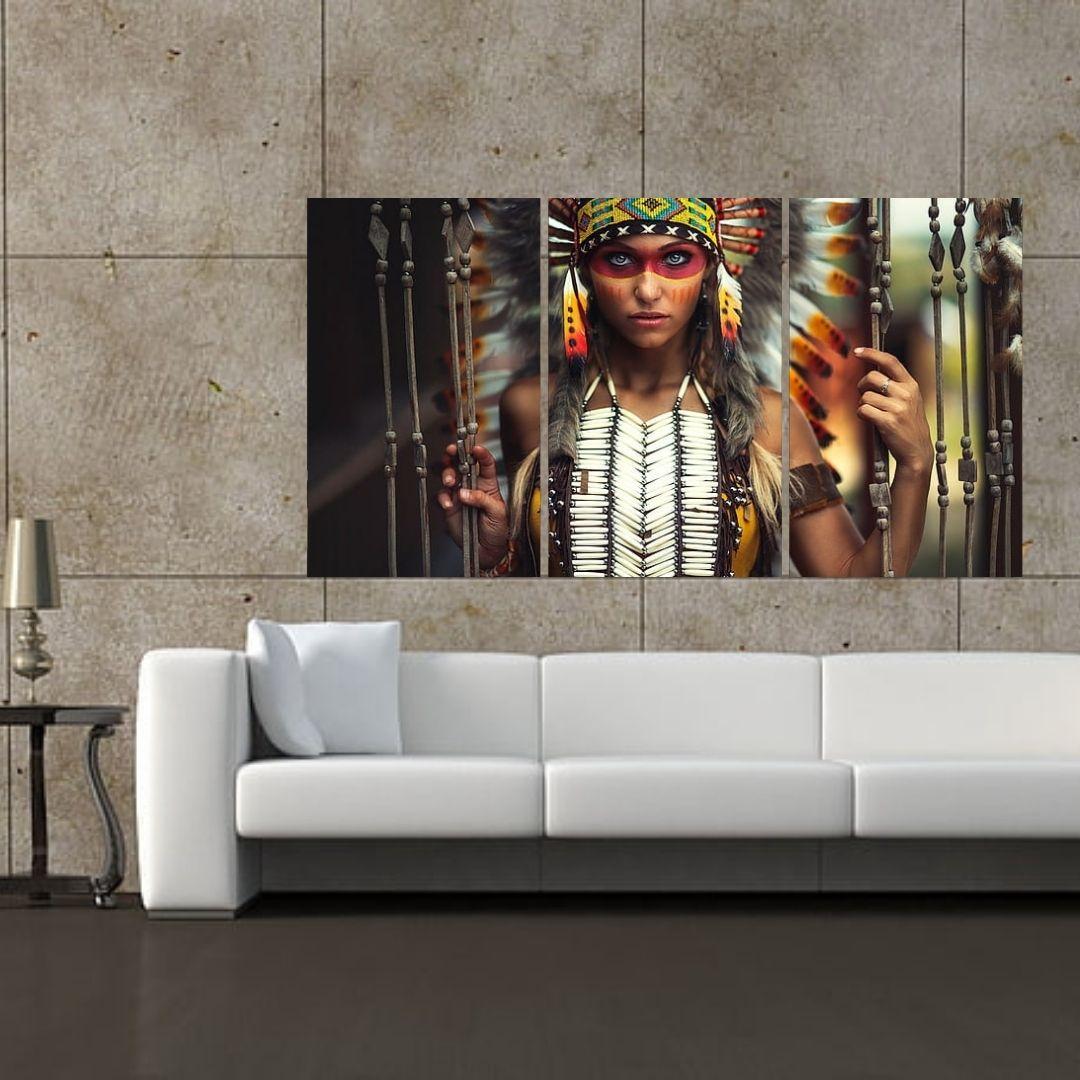 Quadro Decorativo - India Nativa - 120x65