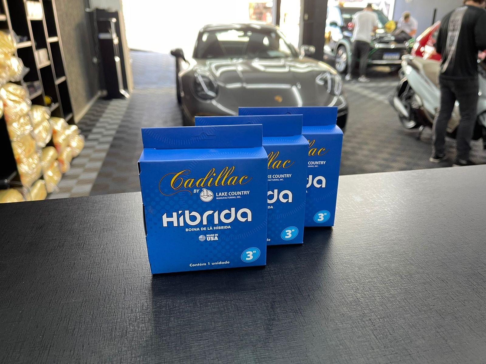 "Boina de lã híbrida azul 3"" Cadillac"