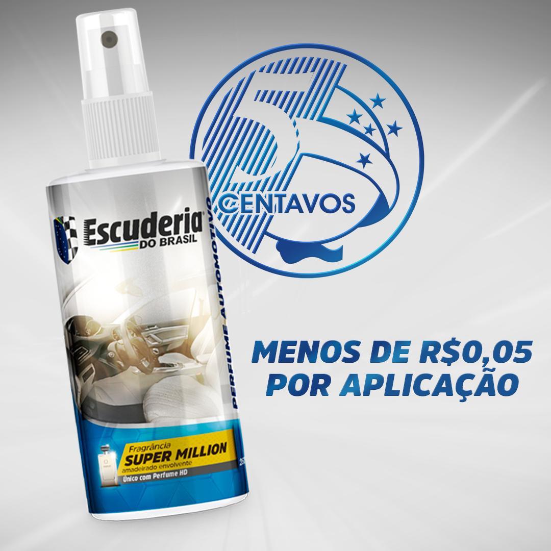 Perfume aromatizante automotivo Super Million spray 260ML - Escuderia do Brasil