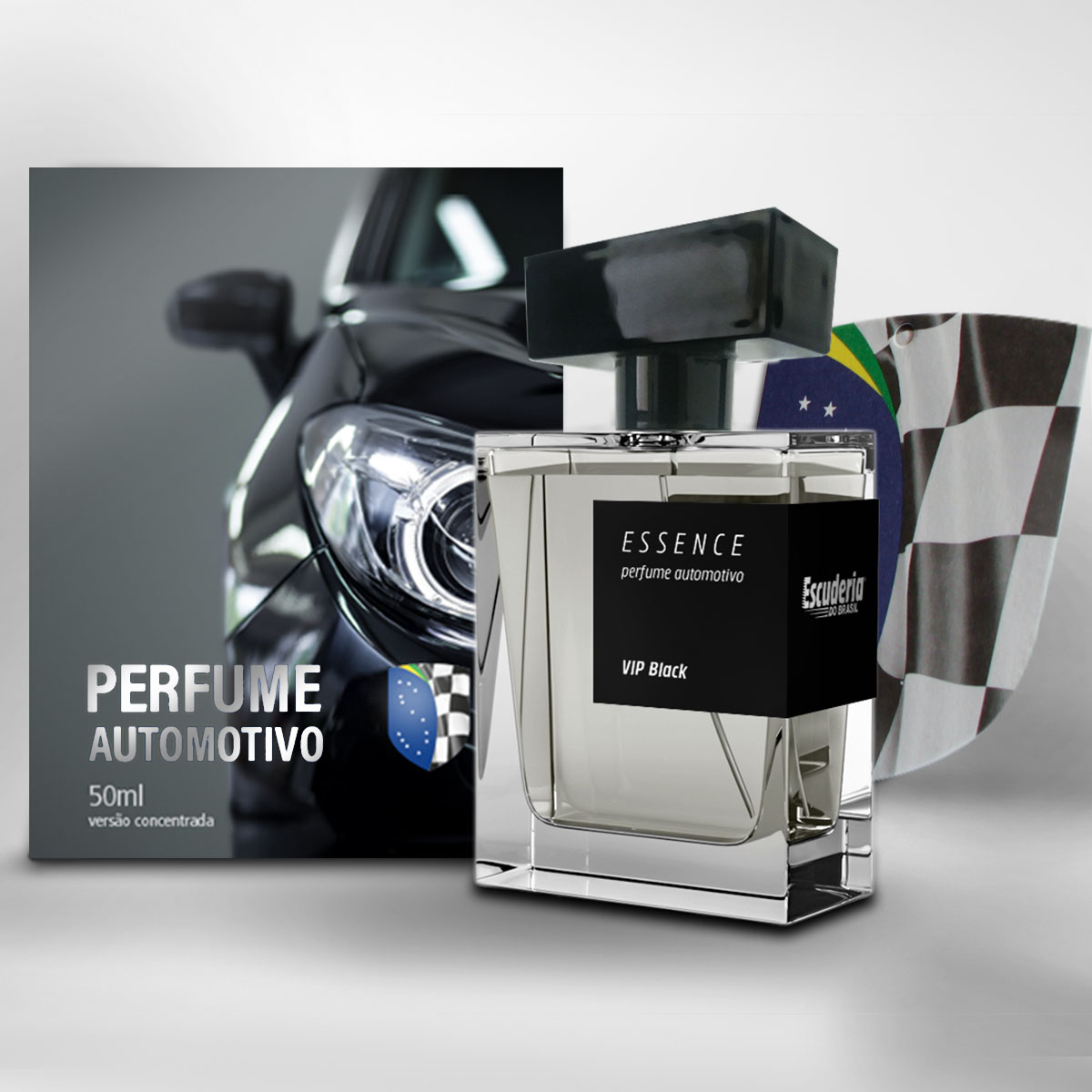 Perfume automotivo concentrado 50ml Vip Black - Escuderia do Brasil