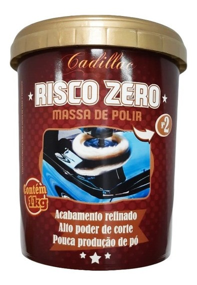 Risco zero massa de polir 1kg - Cadillac