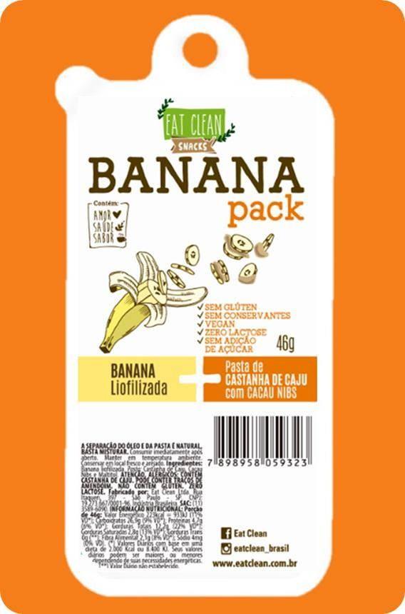 Banana Pack - Pasta de Castanha de Caju com Cacau Nibs - 46G