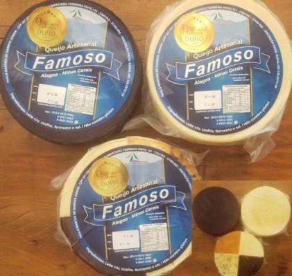 TRIO ALAGOENSE- 3 queijos artesanais ALAGOA - TRADICIONAL, 4 SABORES E AO VINHO - 1KG cada peça