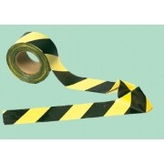 Fita Plástica Zebrada Preto/Amarela Rolo