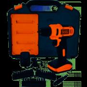 Furadeira Parafusadeira LD12SC com 31 acessorios e maleta Bivolt Black Decker