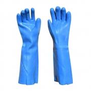 Luva Azul PVC 45cm Sem Forro Plastcor