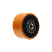 Roda Ferro/Poliuretano Laranja PU Esfera Colson
