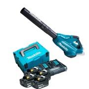 Soprador de Folhas DUB362 + Kit 4 Baterias 5Ah e Carregador Makita
