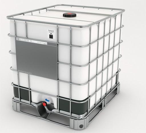 Bombona Plástica 1000 Litros Usada Com Armação Metálica