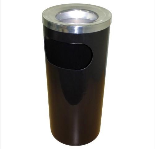 Cinzeiro Plástico Preto (Tipo Lixeira)