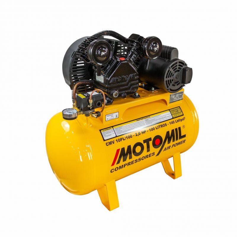 Compressor 100 Litros 9 Pés 2HP Motomil