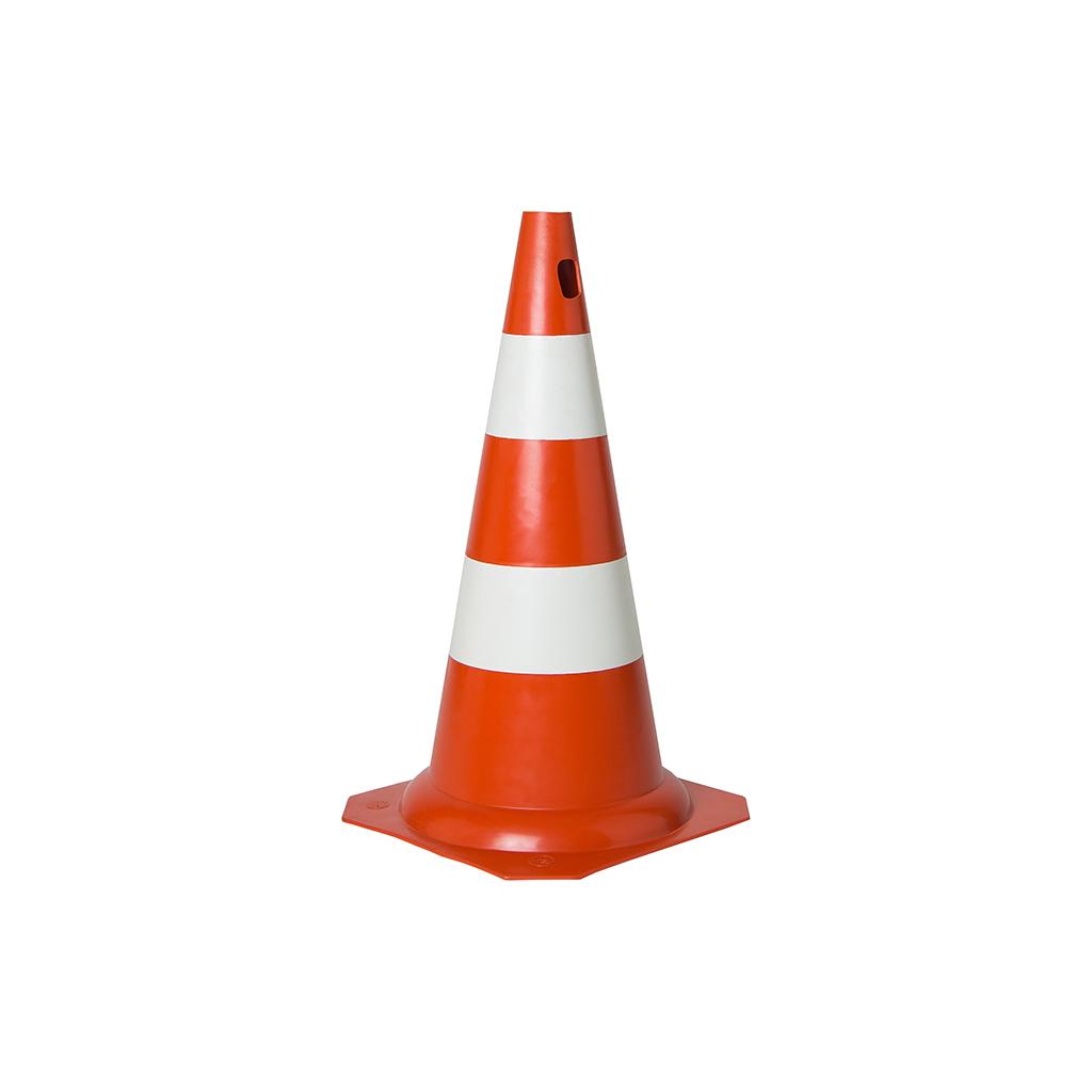 Cone Para Sinalização PVC Rígido Abóbora/Branco Diversos Tamanhos