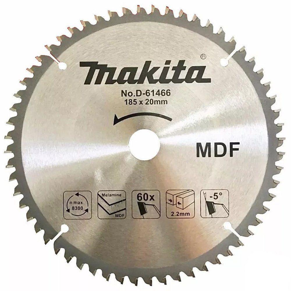 Disco de Serra Circular P/ Madeira C/ Dentes de Metal 185 X 20 mm D-61466