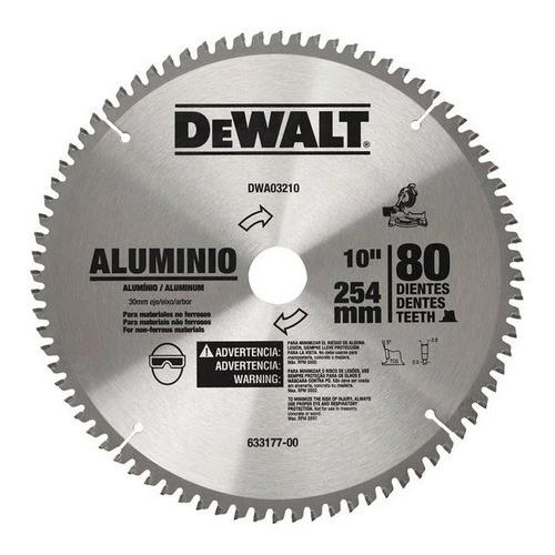 """Disco Serra para Aluminio 10"""" 80 Dentes DWA03210 Dewalt"""