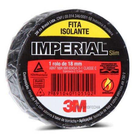 Fita Isolante Preta Imperial 3M Diversos Tamanhos