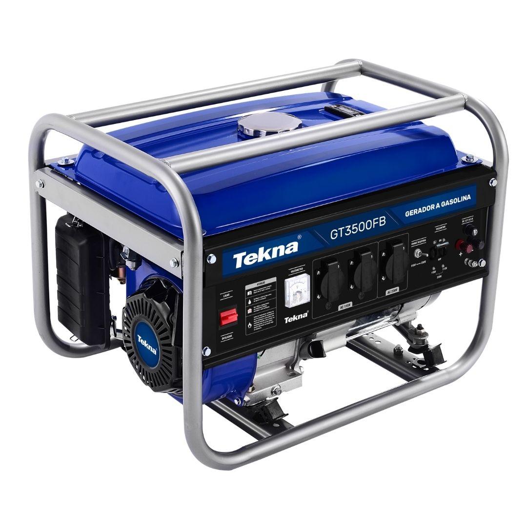 Gerador a Gasolina  3.1KVA 3100W 115/230V 60HZ GT3500FB Tekna