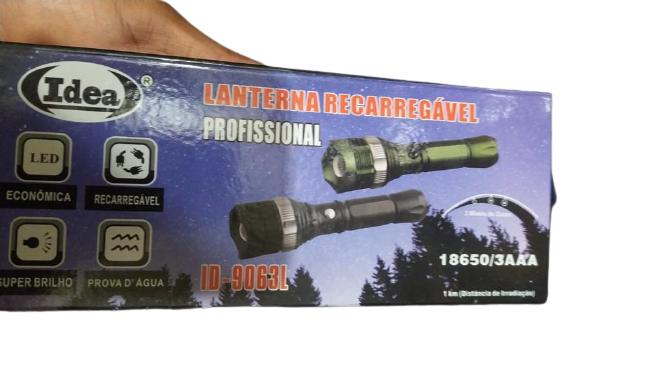 Lanterna Recarregável ou 3 Pilha Com Leds ID9063L 500Lumens Idea
