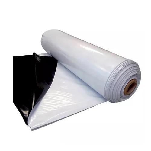 Lona Plástica Preta e Branca 60kg com 8m de Largura
