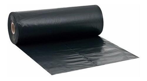 Lona Plástica Preta em Bobina 8 x 50 m 60kg