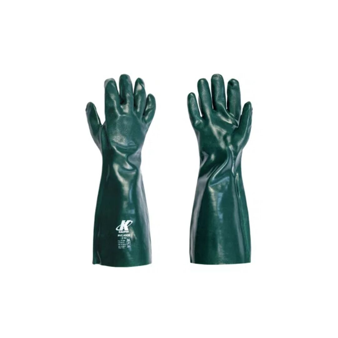 Luva de PVC 35cm com Forro Verde Kalipso TM9.5