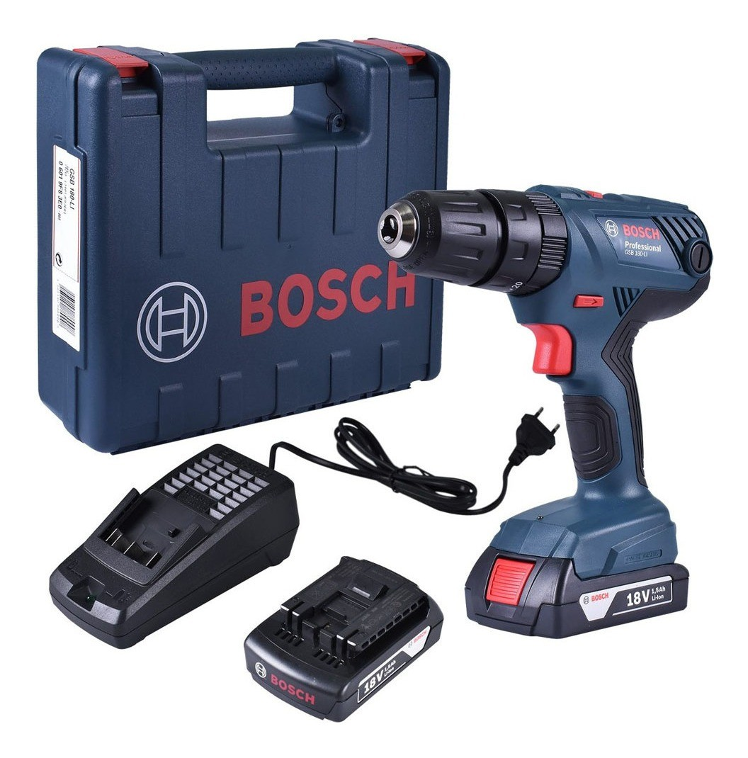 Parafusadeira Furadeira de Impacto GSB 180 Li 18V 2 Baterias Bivolt Bosch