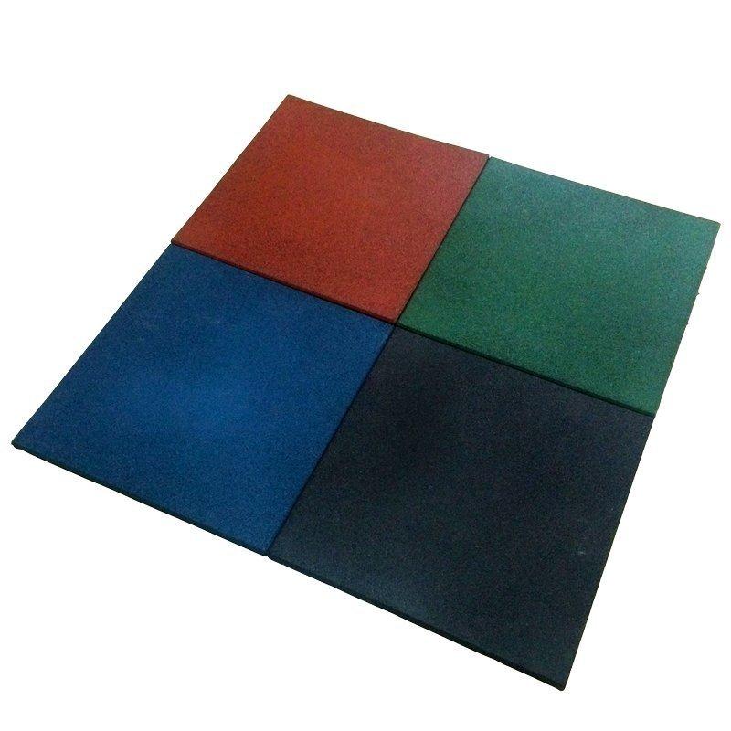 Piso Placa de Borracha Academia 50X50M 15MM Espessura Azul
