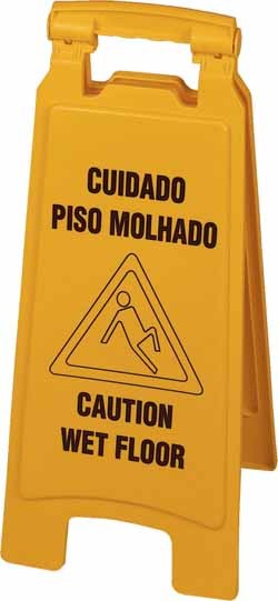 Placa de Sinalização Cavalete Piso Escorregadio Betanin