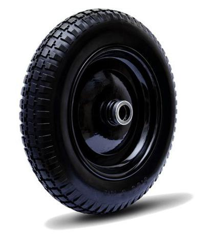 Roda Pneu/Camara 3,25x8 Aro Rolete Preto Colson