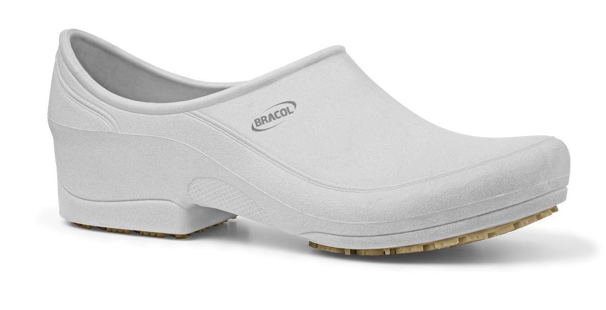 Sapato Ocupacional Impermeável Flip Branco Bracol