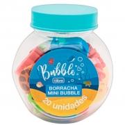 Borracha Mini Bubble Pote com 20 Unidades Tilibra