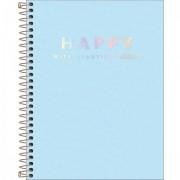 Caderno Happy Azul Com Pauta Colegio 1m 80 Folhas