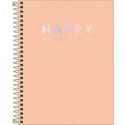 Caderno Happy Coral Com Pauta Colegio 1m 80 Folhas