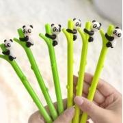 Caneta Panda Bambu Ponta Fina Gel 0.5 Preta