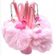 Caneta Pompom Flamingo Ponta Fina Gel 0.5 Preta