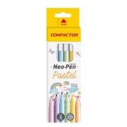 Canetinha Neo-Pen Pastel Com 6 Cores Ponta 2.0mm