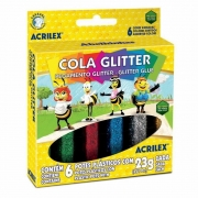 Cola Glitter Acrilex 6 Cores