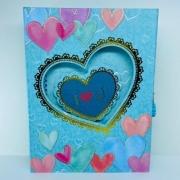 Diário Com Cadedo Coração Azul