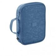 Estojo Fluor Mix Soft Azul C/ Compartimento p/100 Lápis