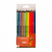 Lápis de Cor Neon e Metálico 12 Cores