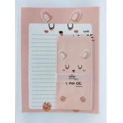 Papel de Carta Urso Rosa