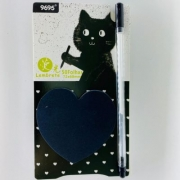 Post It Black Cat com Caneta