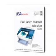 Vinil Laser Branco Adesivo C/10 Fls A4 127 Microns