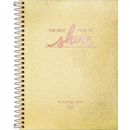 Agenda Planner Shine Ouro 2021